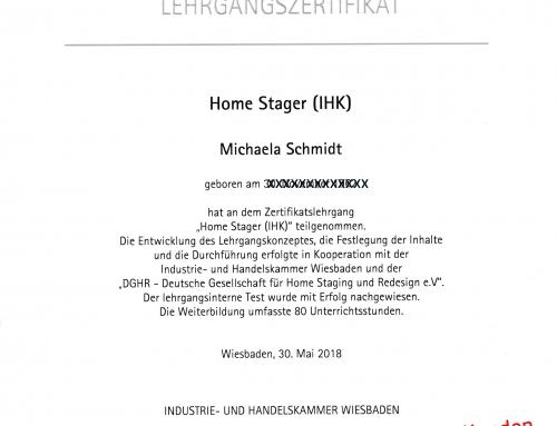 Home Staging-Betrieb mit IHK-Zertifikat: HSW von Michaela Schmidt