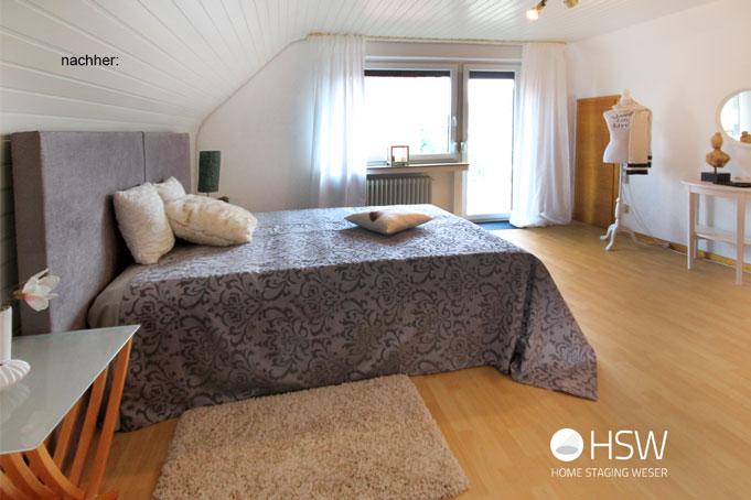 Home Staging, Bremen, Stuhr, Syke, Homestaging, Hausverkauf, Immobilie verkaufen, Aufwerten, Einrichtung, Makler, Umzug, schneller Verkauf, Hilfe Hauskauf, Immobilienverkauf, Verschönern, Optimieren, Unterstützung, Schlafzimmer
